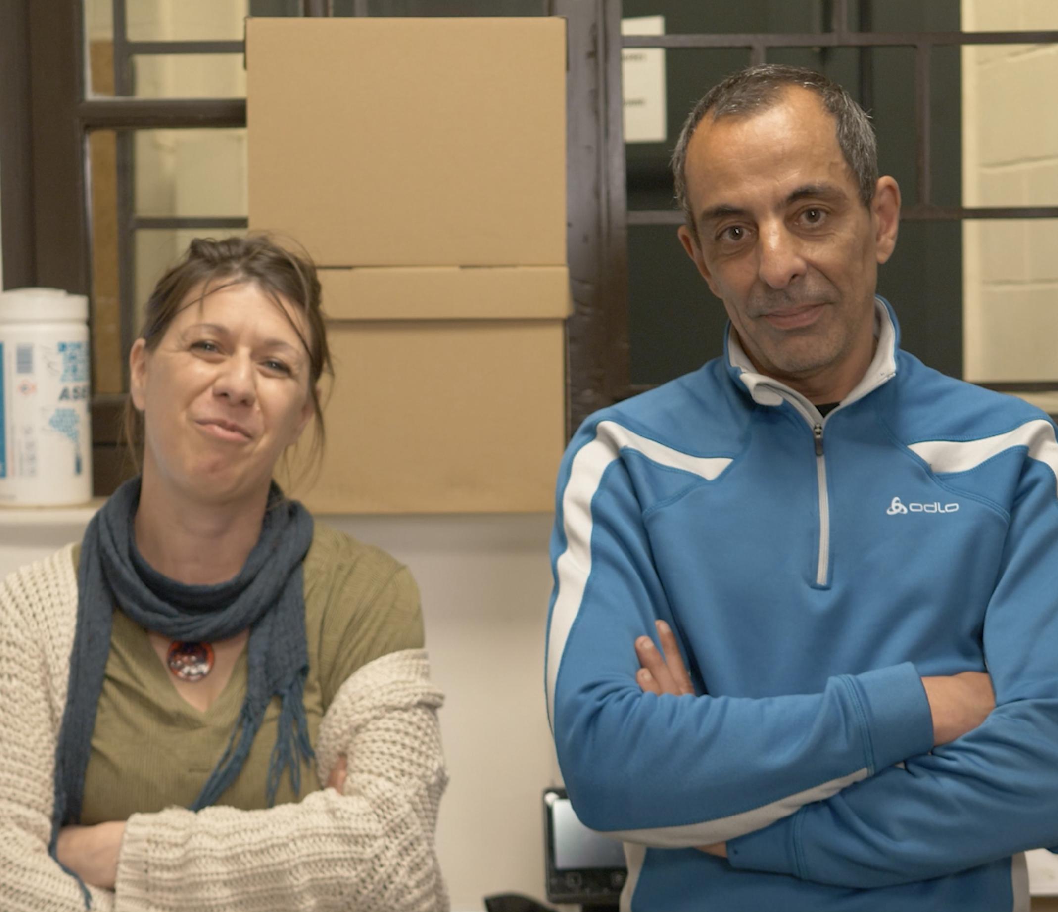 Magali (coordinatrice en chef) & Fouad (coordinateur)